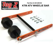 New Tag Z Twin Roller Wheelie Bar KTM 450 505 525 XC ATV Quad ATV Orange